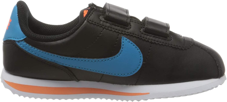 Nike jongens Cortez Basic Sl (PSV) atletiekschoenen, wit Black/Laser Blue/Hyper Crimson/Metallic Silver
