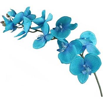 Green pour un mariage Taille unique orchid/ées papillon en soie Woopower 1 x Bouquet de fleurs artificielles bouquet d/écoratif id/éal pour d/écorer votre salon