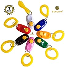 SunGrow Dog Clickers, Colorful and Practical Set of Simple, Convenient and Effective Training Tools for Puppy or Cat, Humanized Scientific Professional Design, Perfect Size and Sound