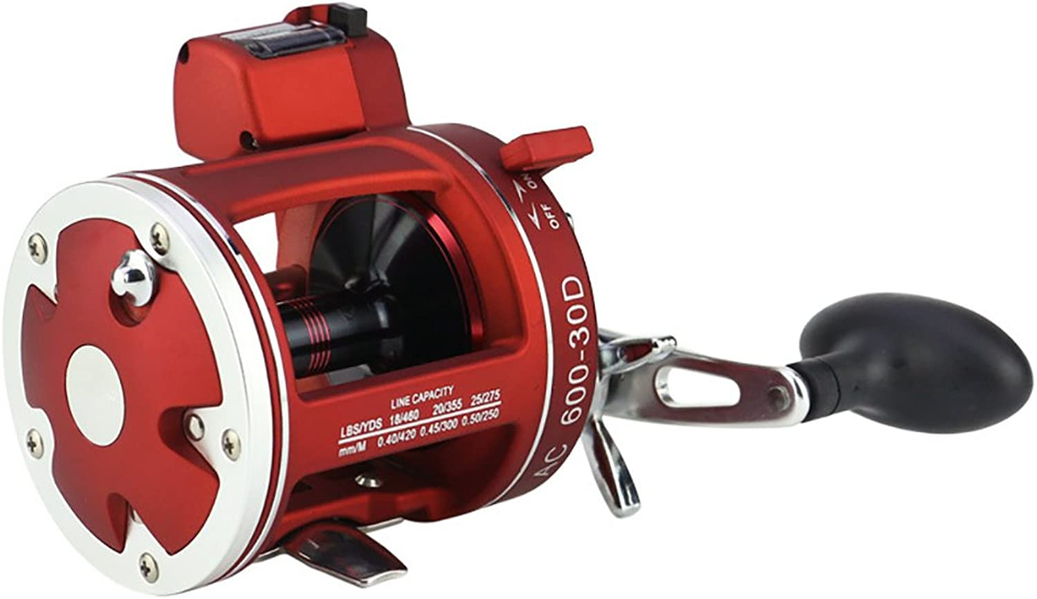 EDTara 12+1BB Round Baitcast Reel Cast Drum Wheel with Counter Left Right Hand for Jigging Trolling in Saltwater