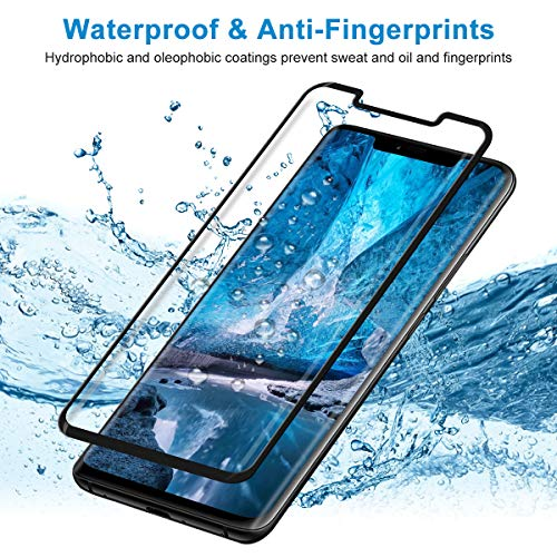 CRXOOX Panzerglas Schutzfolie für Huawei Mate 20 Pro Panzerglasfolie 2 Stück mit Fingerabdrucksensor - 9H Härte Glas Folie, Anti Fingerprint 3D Curved Ultra Dünn HD Case Friendly Displayschutzfolie - 6