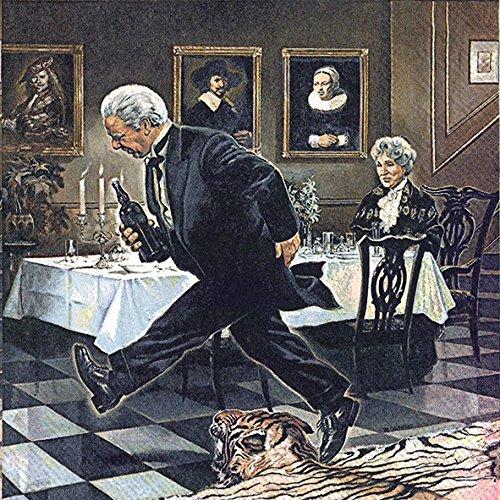 Dinner for One Servietten Sylvester Neujahr Geburtstag Party Feier 20 Stück, 3-lagig 33x33cm