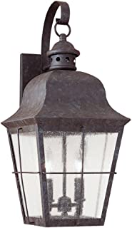 Sea Gull Lighting 8463-46 Chatham Two Light Outdoor Wall Lantern, Oxidized Bronze