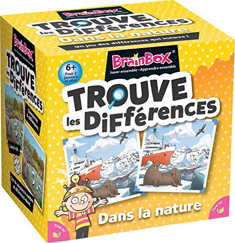 Brainbox - Encuentra las diferencias - En la Naturaleza - Asmodee - Juego de mesa - Juego de observación y memoria - Juego infantil
