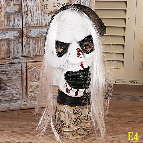 lxylllzs Kostümparty Latex Maske für Halloween,Halloween Ghost Festival Ball Requisiten Horror Zombie Bleeding Witch Mask-E4,Maske, Horror Gruselig Latex für Karneval,