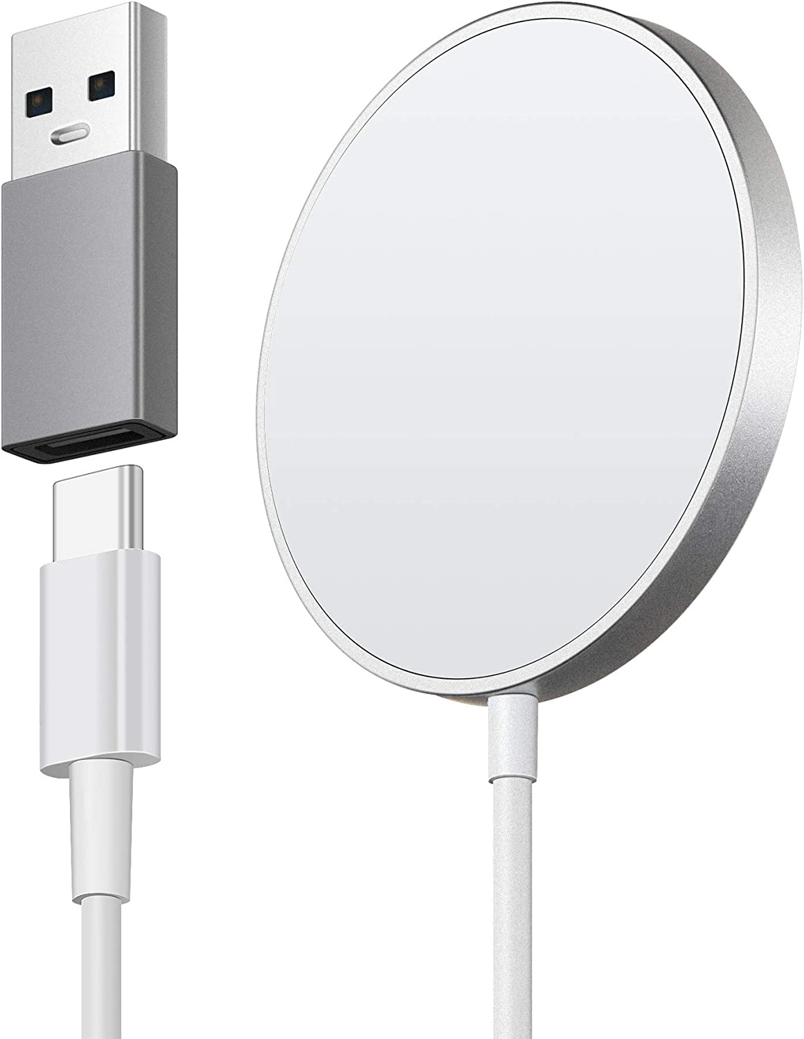 Wireless Charger Charging Pad 15W Max Fast Charging for iPhone 12/11/11 Pro/XS Max/XR/XS/X/8/8+, Galaxy Note 10/Note 10+/S10/S10+/S10E (No AC Adapter)
