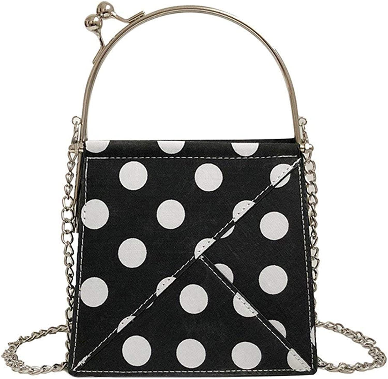Bloomerang Women Messenger Bag Ladies Wave Point Shoulder Bag Handbag Simple Bags for Women Bolsa Feminina Casual Formal Party Bags 22 color Black Size