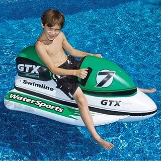 Swimline 9027SL GTX Wet Ski & Wild Ride - On Water Bike Inflatable Float 9027