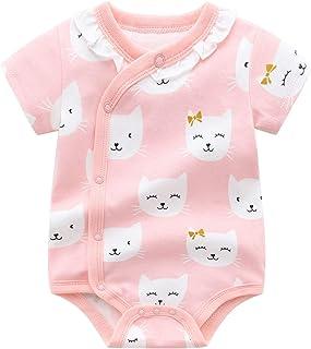 PROTAURI Baby Mädchen Body, Neugeborene Kurzarm Onesies Strampler Jumpsuit Baumwolle Kleidung, 0-24 Monate