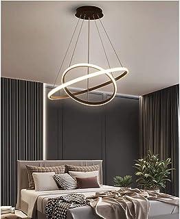 DAXGD Lámpara LED moderna, lámpara de techo LED negra circular, iluminación de lámpara LED 28 W, diámetro 40 cm, negro