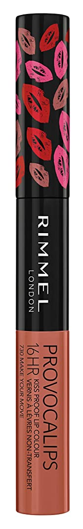 議論する予想外リットルRIMMEL LONDON Provocalips 16Hr Kissproof Lip Colour - Make Your Move (並行輸入品)