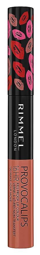 ダーベビルのテス肉屋サスティーンRIMMEL LONDON Provocalips 16Hr Kissproof Lip Colour - Make Your Move (並行輸入品)