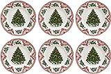 Johnson Bros viejo Bretaña castillos–rosa, de Navidad juego de platos llanos...