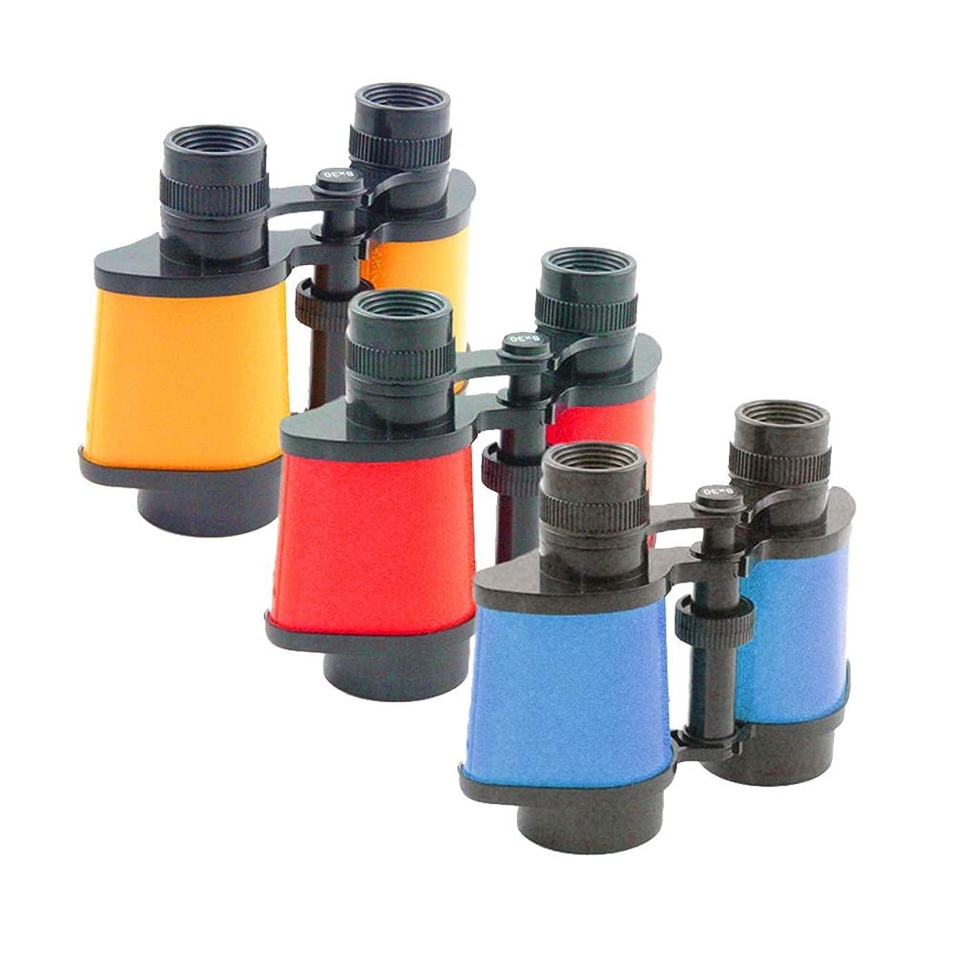 オーバーヘッドマダムお風呂を持っているToyvian 子供のためのカラフルな8倍の子供双眼鏡望遠鏡屋外ゲームのおもちゃ(12pcs色混合)