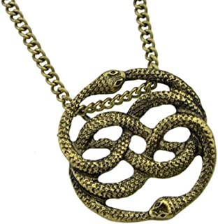 Auryn Necklace Pendant Gold Tone (Inspired by The Neverending Story)