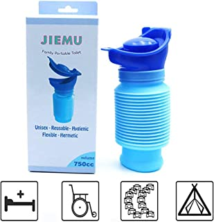 Gemei Emergency Urinal, Portable Mini Outdoor Camping Travel Shrinkable Personal Mobile Toilet Potty Pee Bottle for Kids Adult Camping Car Travel Traffic Jam and Queuing (750 ML)