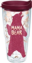 Tervis 1289210 Standing Mama Bear Tumbler with Wrap and Maroon Lid 24oz, Clear