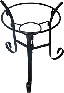 Alpine Corporation Glass Gazing Globe Metal Stand, Outdoor Festive Holiday Decor for Garden, Lawn, Yard, Black