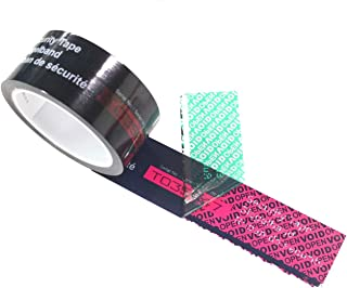 1 Roll Precut Serial Numbered Tri-Color Tamper Resistant Security Void Tape (45 mm x 50 meters, Ultra-thick Void Film - TamperSTOP)