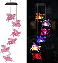 xxschy Solar Flying Pigs Wind Chimes Outdoor - Waterproof Solar Powered LED Changing Light Color Fly Pigs Mobile Romantic Wind-Bell for Home,Balcony,Party,Festival,Night Garden Decoration(Blackboard)