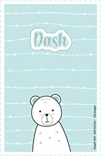 Dash: Personalized Name Squared Paper Notebook | 6x9 inches | 120 pages: Note Book for drawing, writing notes, journaling,...