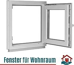 BxH:95x65 cm DIN Rechts Fenster Kellerfenster Kunststofffenster wei/ß 3 fach Verglasung Premium ALLE GR/Ö/ßEN Dreh-Kipp