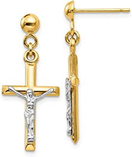 Best gold crucifix earrings Reviews