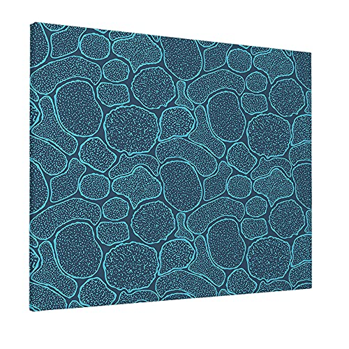 Wondertify Virus Cells Under The Electron Microscope Painting Microbes Bacteria In The Scanning View Canvas Wall Art For Home/Office/Living Room/Bedroom Artwork Decor 20X24 Inch