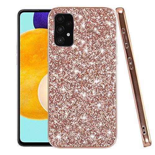 Funda para teléfono móvil compatible con Samsung A52, carcasa protectora Samsung Galaxy A52 5G, color negro (oro rosa, Samsung Galaxy A52 5G &4G)