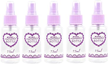 Generic Plastic Home Spray Bottle Water Liquid Container 75ml 5pcs Purple Clear