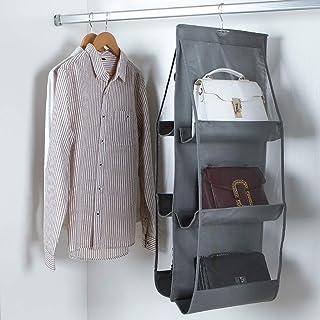 yqs Porte-manteaux sur rail porte-vêtements, porte-manteau, penderie, artefact de rangement pour sac suspendu, étagères mu...