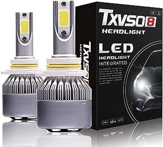 LED Headlight Kits-COB Flip Chips/Adjustable Beam- 60W 7600LM 6000K-Hi/Lo Beam/Fog Light Bulbs (9006/HB4)