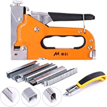 Swpeet 3-in-1 Staple Gun Kit with Staple Remover and 500 Staples Selection Pack,Hand..
