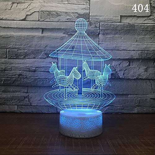 Éclairage décoratif de chambre à coucher 3D Magic Lights Jouets Lampe de table pour enfants Hot Air Balloon Night Light 3D Led lampe de chevet cadeau de vacances Lights Usb Lights, litre