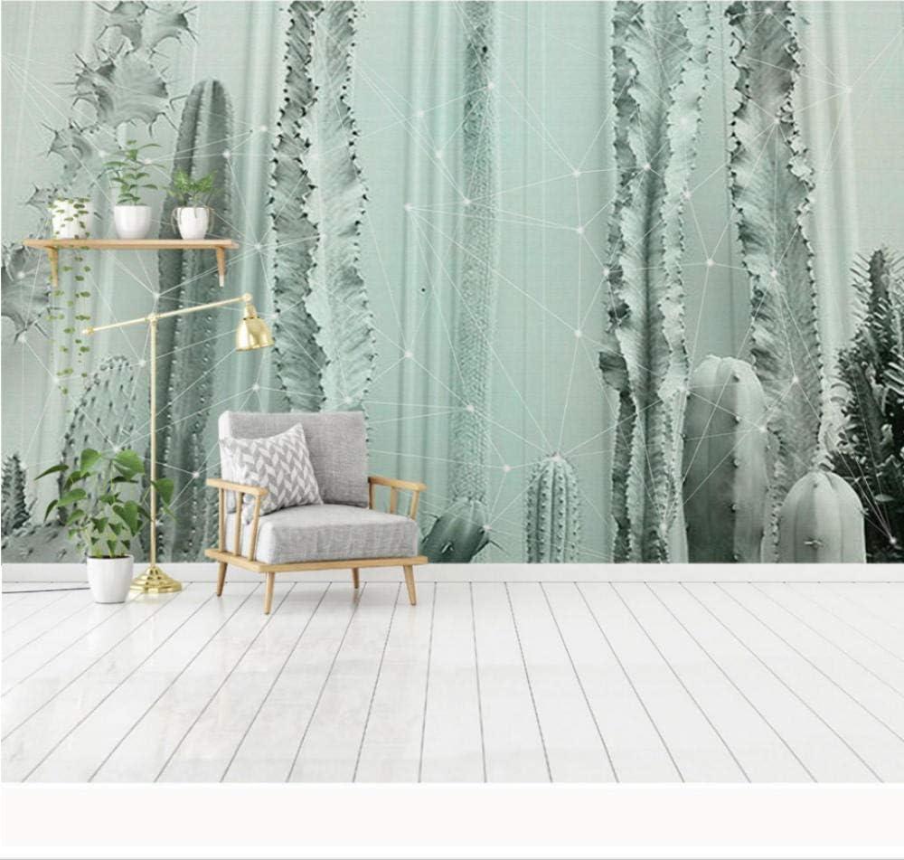 Wall Paper Tropical Albuquerque Financial sales sale Mall Cactus Plant Mural Photo Wallpaper Deco Home