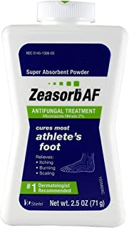 Zeasorb Super Absorbent Powder Antifungal Treatment, Athlete's Foot 2.5 oz (71 g)(Pack of 6)