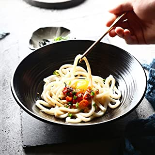 Jkckha Ramen Bowl Accueil Bol de riz Creative personnalité Art de la table Vaisselle en céramique Ménage bol de nouilles b...
