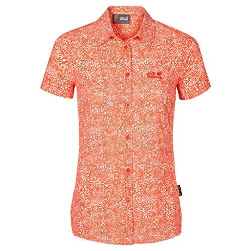Jack Wolfskin Women's Wahia Printed Shirt, Watercress Blossom All Over, Small