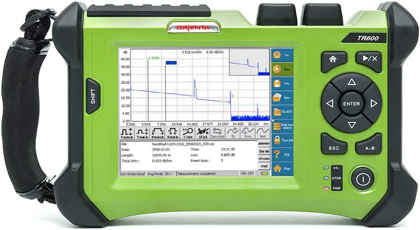 ORIENTEK Reservation TR600 OTDR Series: SM SMMM Test 1625 PON 1490 Recommendation