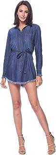 Blue Age Womens Chambray Denim Shirts Dress