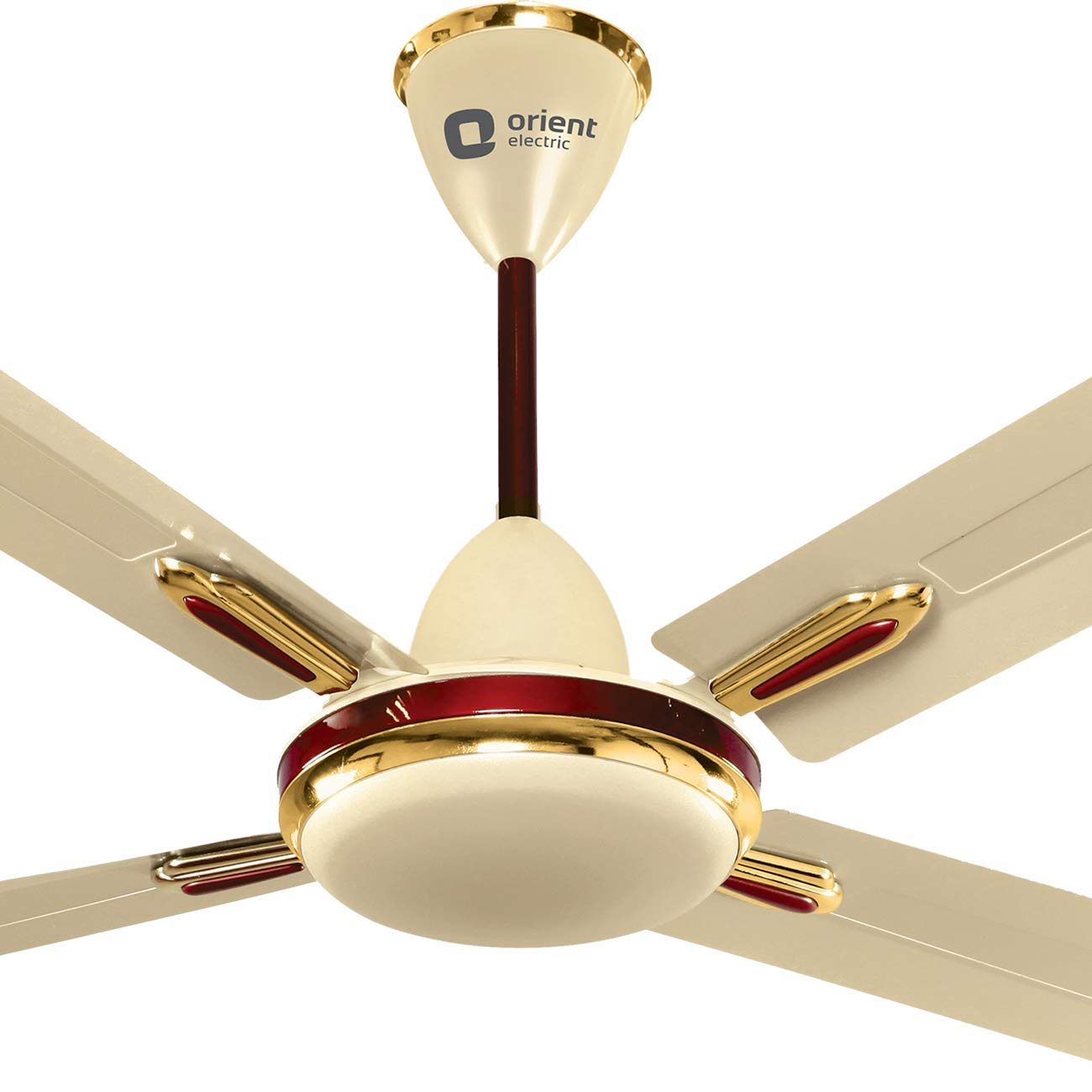 Buy Orient Electric Quadro Ornamental 1200mm Ceiling Fan Metallic Ivory Cherry Online At Low Prices In India Amazon In