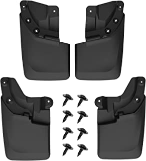 oEdRo Upgraded Front Rear Mud Flaps Compatible with 2016-2019 Toyota Tacoma with OEM Fender Flares Only, Full Set 4pc Splash Mud Guards