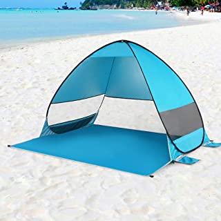 Automatic Pop Up Beach Tent Cabana Portable UPF 50+ Sun Shelter Camping Fishing Hiking Canopy