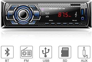 comprar comparacion Aigoss Autoradio Bluetooth, Control Remoto Manos Libres FM Estéreo de Coche 60W x 4, Apoyo de Reproductor MP3 Llamadas Man...