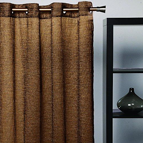 Athènes Home Textile-bise Tarbes de Salon avec oeillet métallique 100% Polyester 140 x 265 cm Noir