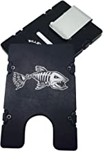 product image for HMC Billet Bone Fish RFID Protection Credit Card Holder Aluminum Wallet, Black