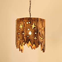 ZCdd Wall Lights Wall Lamp Retro Industrial Wind LED Wrought Iron Wood Glass Size 45cm*100cm Lamps and Lanterns Small Chan...