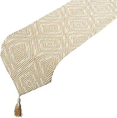 DII Pinecone Braided Jute Table Runner Multi