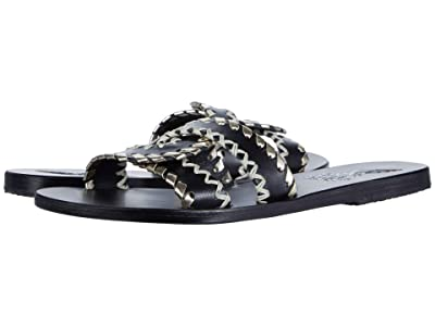 Ancient Greek Sandals Desmos Stitch (Black/Platinum) Women