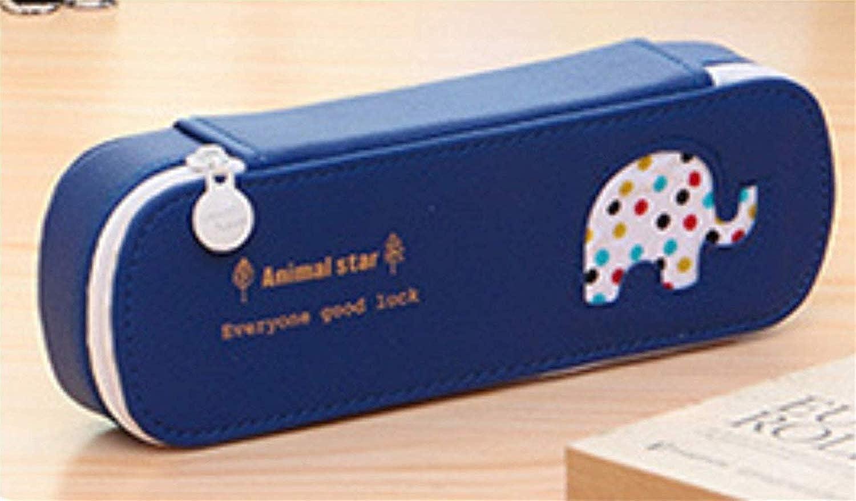 HUAIX Home Schreibwaren Schreibwaren Schreibwaren Federmäppchen Einfacher Stil Elefant Muster Große Aufbewahrungstasche Federmäppchen Federtasche (Deep Blau) B07MHMHFWG   Angemessener Preis  a9ba10